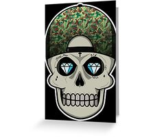 COOL SKULL Greeting Card