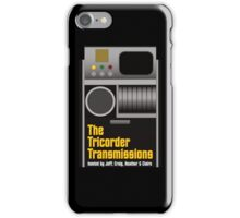 The Tricorder Transmissions Logo iPhone Case/Skin
