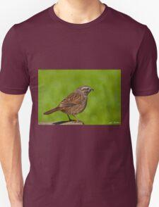 Song Sparrow on a Log Unisex T-Shirt
