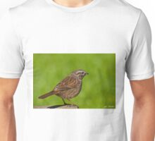 Song Sparrow on a Log Unisex T-Shirt