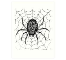 Zentangle Spider  Art Print