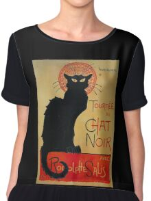 'Tournee du Chat Noir' by Theophile Steinlen (Reproduction) Chiffon Top
