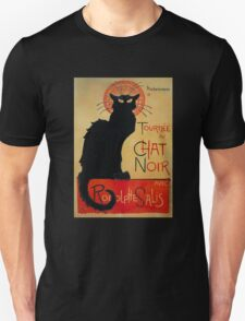 'Tournee du Chat Noir' by Theophile Steinlen (Reproduction) Unisex T-Shirt