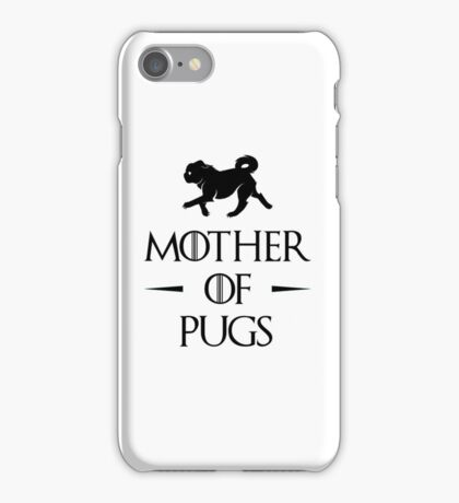 Mother of Pugs - Black iPhone Case/Skin