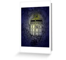 TARDIS in the Twilight Greeting Card