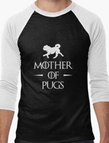 Mother of Pugs - White Men's Baseball ¾ T-Shirt