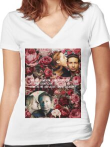 Gillian and David Women's Fitted V-Neck T-Shirt