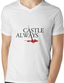 Castle always Mens V-Neck T-Shirt