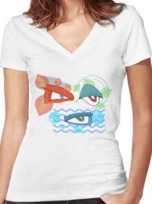 The Evolved Eyes Women's Fitted V-Neck T-Shirt
