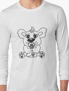 baby child cute sweet diapers pacifier small young comic cartoon kawaii Long Sleeve T-Shirt