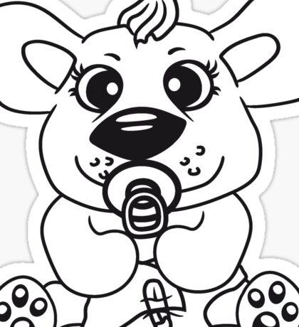 baby child cute sweet diapers pacifier small young comic cartoon kawaii Sticker