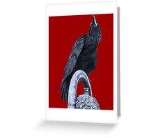 Raven On High - Isolated Greeting Card