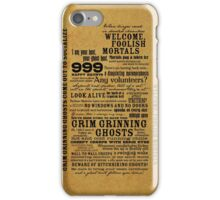 I am your host, your Ghost Host...(Black) iPhone Case/Skin