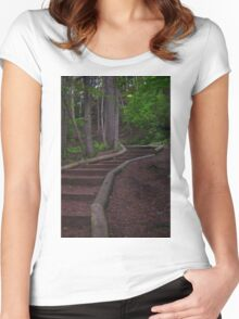 Nature Walk - Photography Women's Fitted Scoop T-Shirt