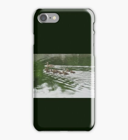 Eleven Duckling's in the Rain iPhone Case/Skin
