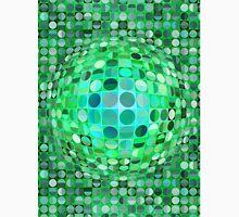 Optical Illusion Sphere - Green Unisex T-Shirt