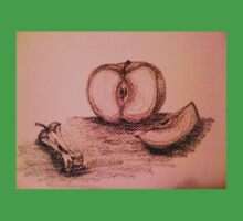 Charcoal Apple Still Life Baby Tee