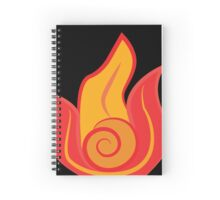 Fire Nation Swirl on Black Spiral Notebook