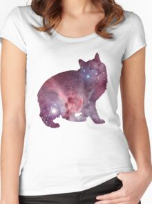 Nebula Kitty Women's Fitted Scoop T-Shirt