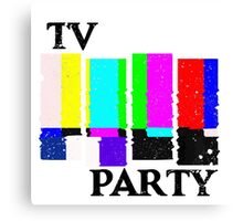 TV Party Canvas Print