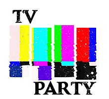 TV Party Photographic Print