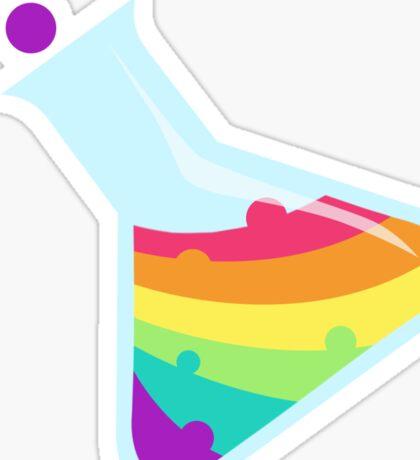 Rainbow Beaker Sticker