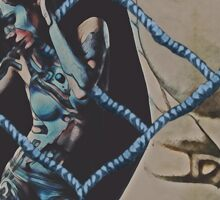 Mothership Cyborg Surrealism Sticker