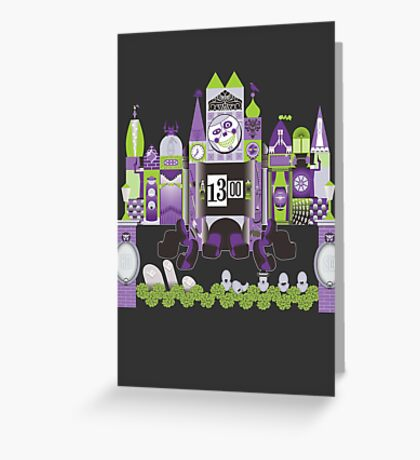 Is This Small World Actually Stretching? (for Darker Rides) Greeting Card