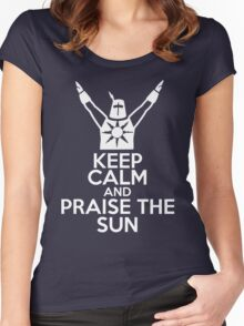Keep Calm and Praise The Sun Women's Fitted Scoop T-Shirt