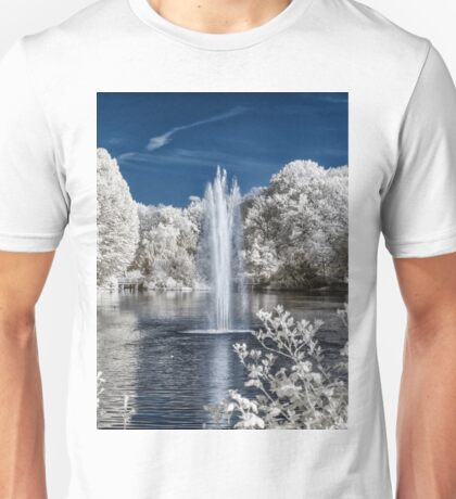 Fountain in Infrared Unisex T-Shirt