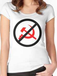 No Communists Allowed Women's Fitted Scoop T-Shirt