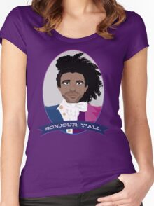 Bonjour, y'all!  Women's Fitted Scoop T-Shirt