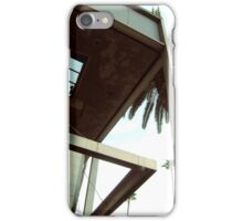 Building detail with palm tree iPhone Case/Skin
