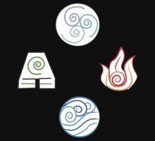 Avatar Elements on White Kids Tee