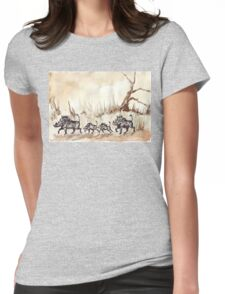 An African scene Womens Fitted T-Shirt