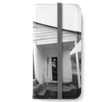 Abandoned Garage B&W iPhone Wallet/Case/Skin
