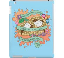 Friends, Waffles, Work. (Parks and Rec) iPad Case/Skin