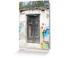Door in Painted Wall Greeting Card