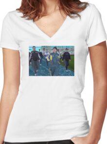 John Howard Grime/Vaporwave Women's Fitted V-Neck T-Shirt