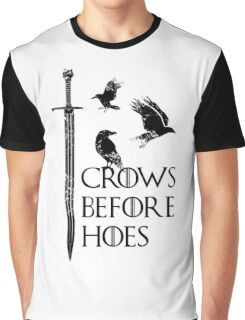 Crows flying on sword Graphic T-Shirt
