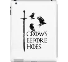 Crows flying on sword iPad Case/Skin