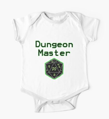 Neon Green Dungeon Master with d20 Dice One Piece - Short Sleeve