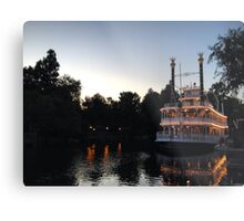 A night on the river Metal Print