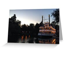 A night on the river Greeting Card