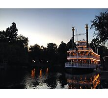 A night on the river Photographic Print