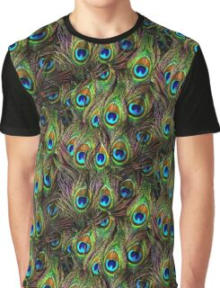 Peacock Feathers Invasion Graphic T-Shirt