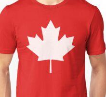 White maple leaf Unisex T-Shirt