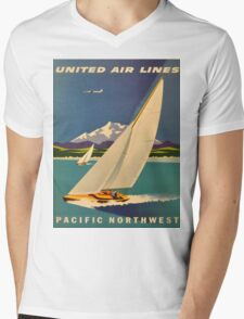 Vintage poster - Pacific Northwest Mens V-Neck T-Shirt