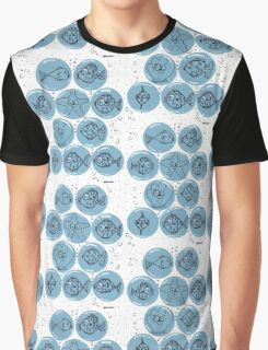 Cute Sea Animals and Funny Fish Floating in Bubbles Graphic T-Shirt