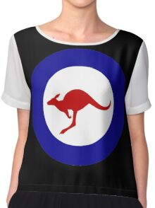 Roundel of the Royal Australian Air Force Chiffon Top